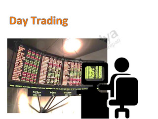 Day trader transacting on electronic platform