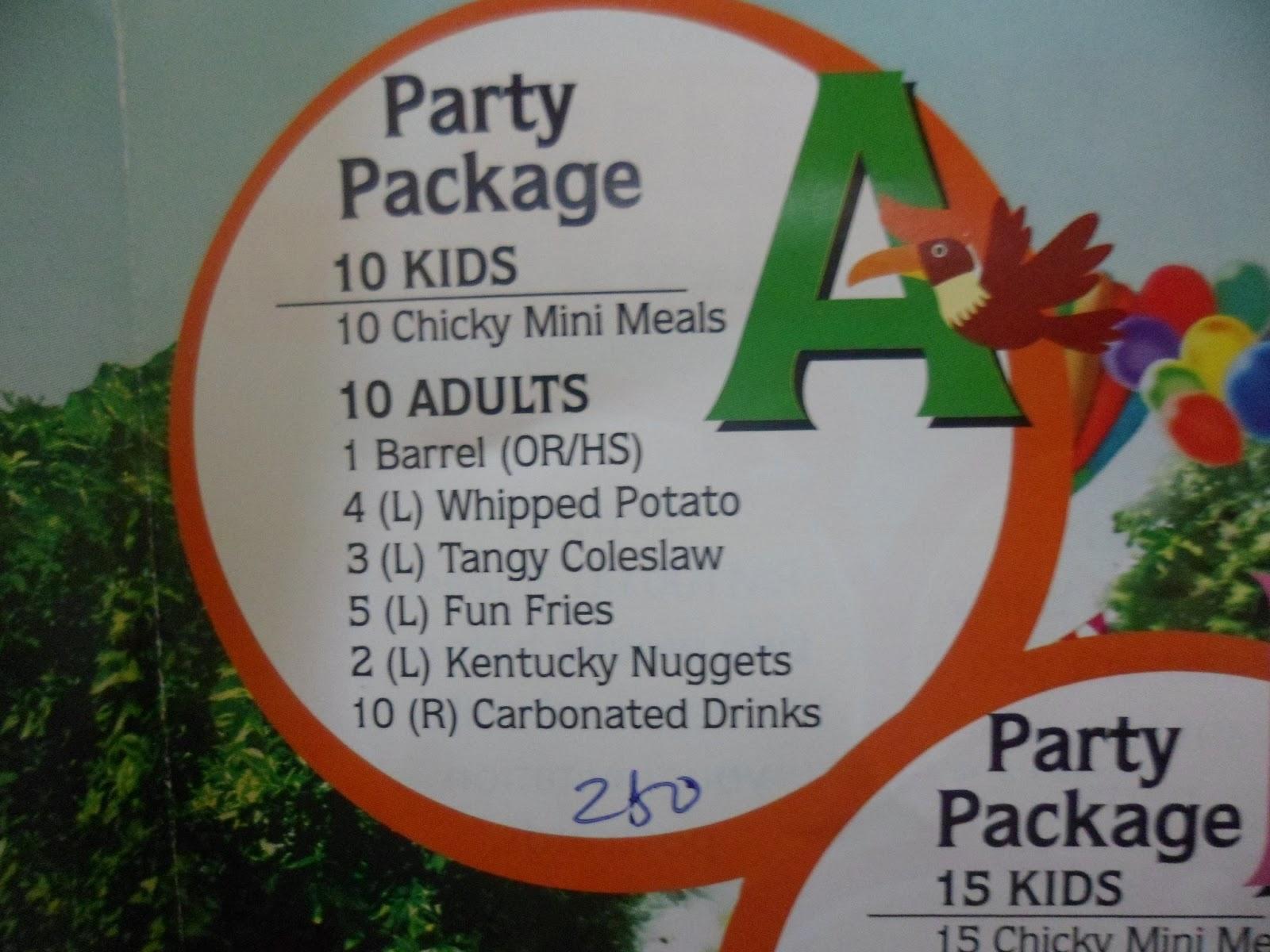 Cerita Erina: KFC Birthday Party Package :)