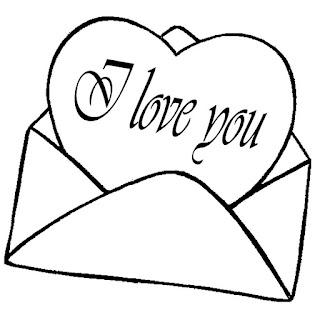 דפי צביעה לבבות מכתבי אהבה