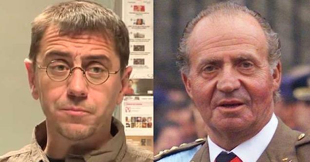 Juan Carlos Monedero y el rey emérito