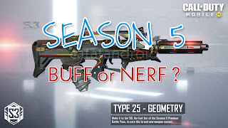 Daftar Senjata Game COD Buff dan Nerf di Update Season 5