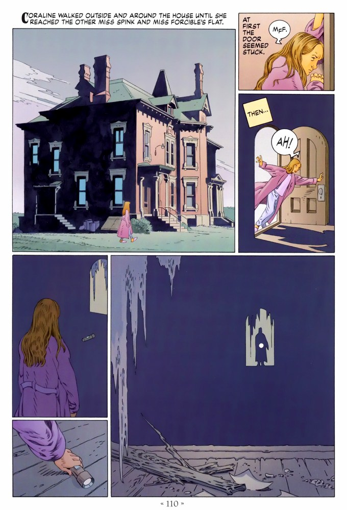 Read page 110, from Nail Gaiman and P. Craig Russell's Coraline graphic novel