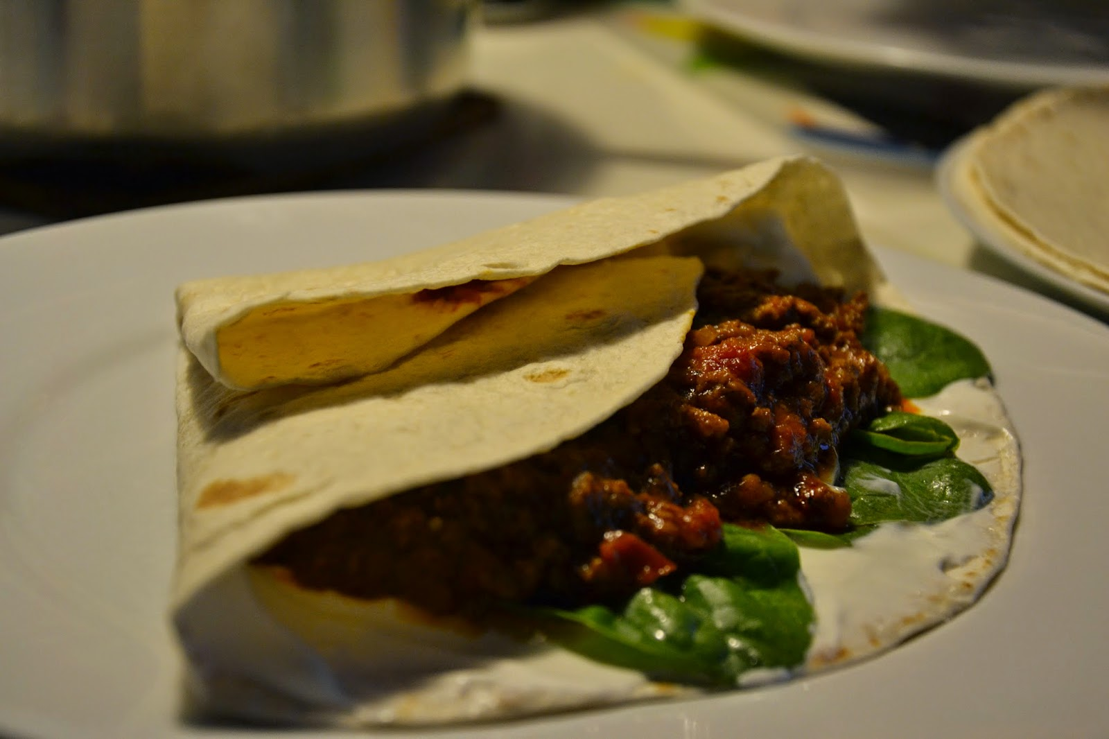 Tortillas med krydret oksekød - Kunsten at lave mad