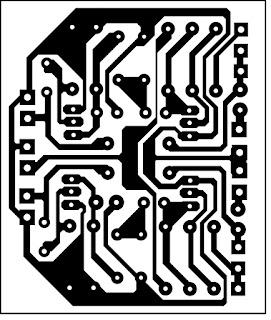 PCB Layout Noise Filter stereo - agar suara lebih jernih