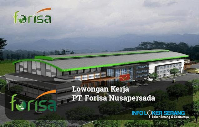Lowongan Kerja Operator Forklift PT. Forisa Nusapersada Tangerang