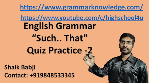 English Grammar Such.. That Quiz for Practice -2