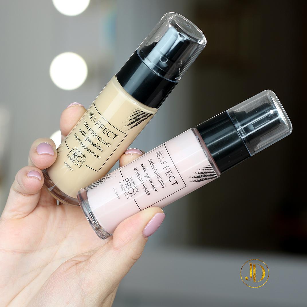 AFFECT - Baza pod makijaż Moisturizing Makeup Primer i podkład Cover Touch HD - recenzja
