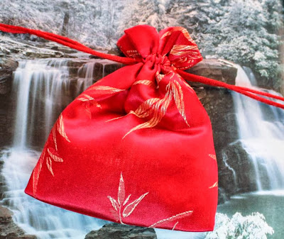Silk bag with a special gift ~ Cynthia's blog anniversary :: All Pretty Things