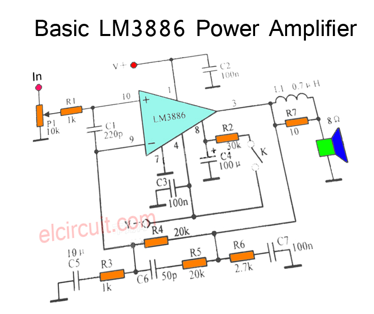 200w stereo high power amplifier lm3886 electronic circuit rh elcircuit com Amplifier Power Supply Design Tube Stereo Power Amplifier