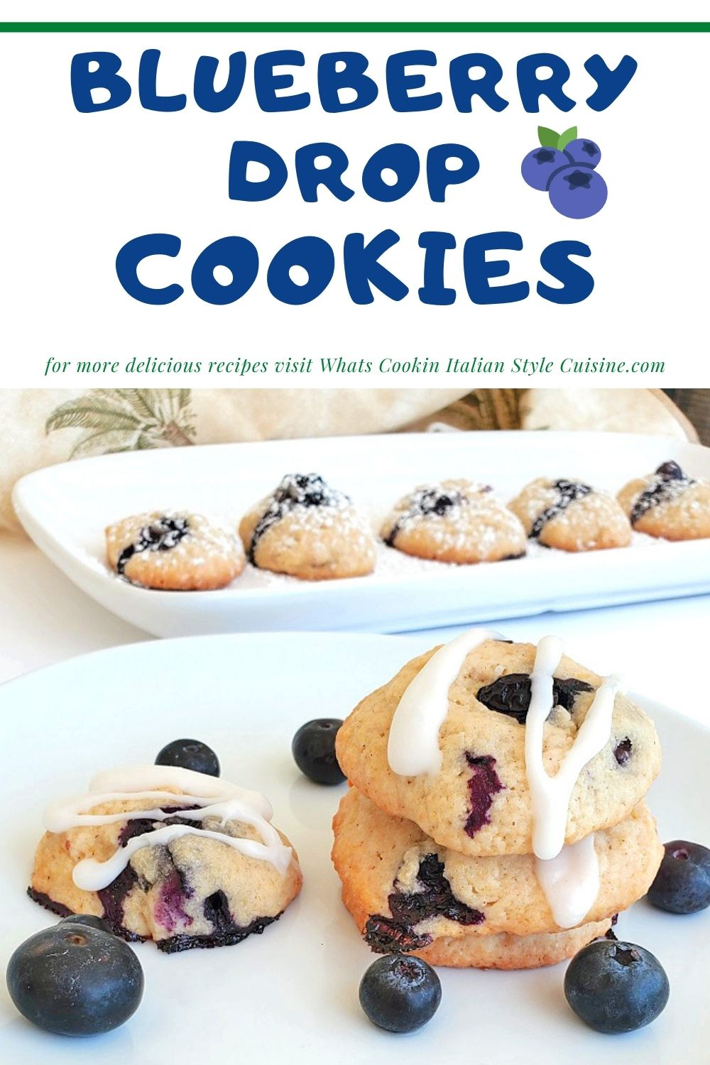 this is a pin for later on how to make soft blueberry cookies