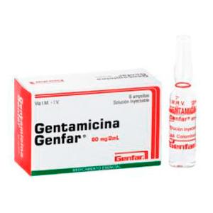 Gentamicina - Pastillas para la infeccion urinaria