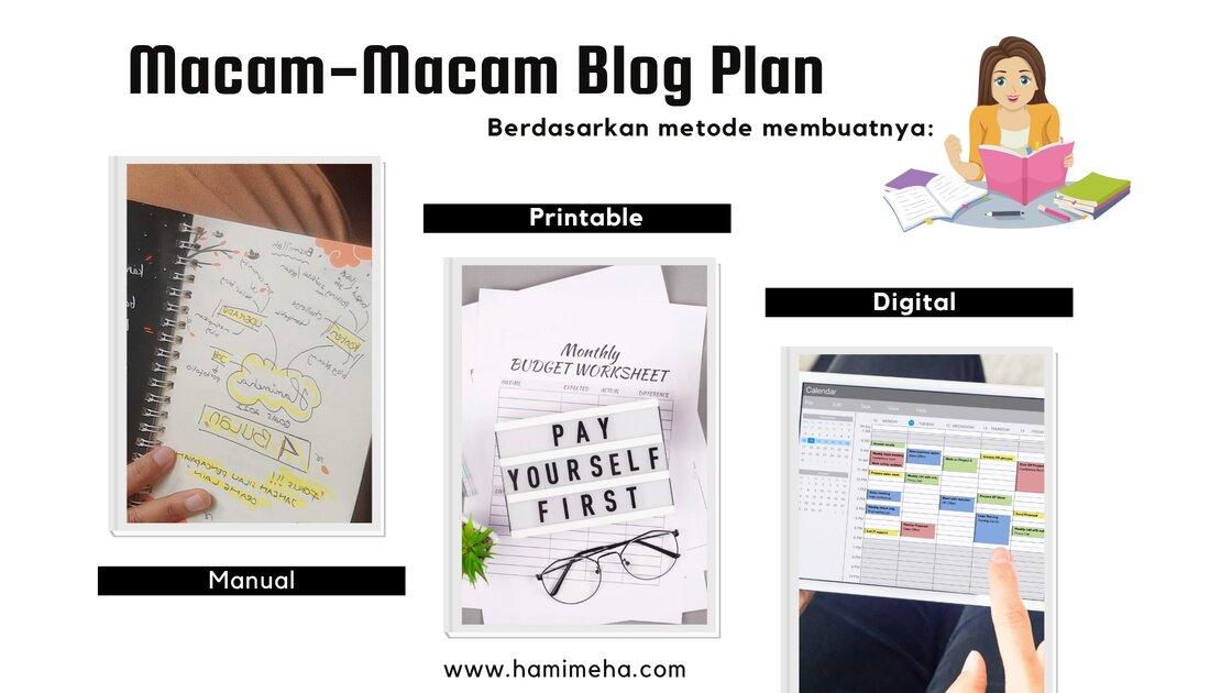 Macam macam blog plan