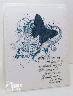 ODBD Custom Pierced Rectangles Dies, ODBD God's Love (Retired), Card Designer Angie Crockett