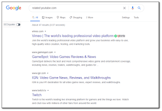 Search Related website using Google