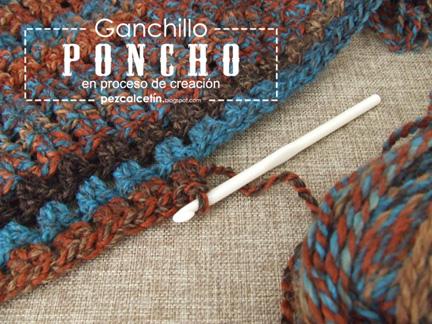 """poncho crochet"" ""boho chic"" ""pez calcetin""  ""bienestar"" ""lana"" ""hygge"" ""ganchillo"""