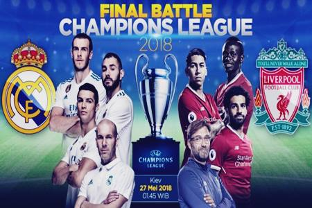 Jadwal dan Highlight Cuplikan Video Gol Final Champion 2018 Real Madrid Vs Liverpool Live Streaming di SCTV dan BeIn Sport