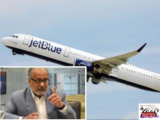 """ESA AEROLINEA ES UN LIO Y NO DE ROPA!!! Junta de Aviación Civil dice no permitirá a JetBlue seguir maltratando dominicanos. """"El Internacional"""""""