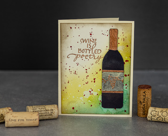 Quietfire Design / Wine is Sunlight / card design by Kim Gowdy