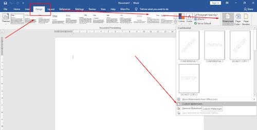 Cara Menambahkan Background Gambar Watermark di Ms Word