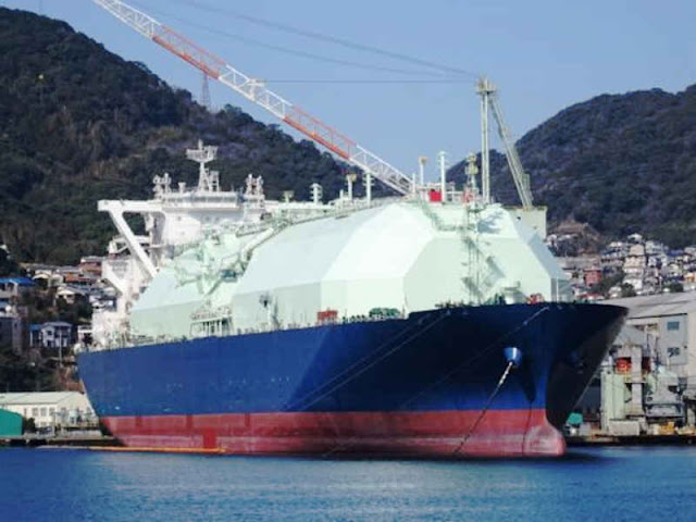 Inpex LNG Tanker Oceanic Breeze Makes First Call at Japan