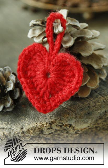 Petit coeur au crochet
