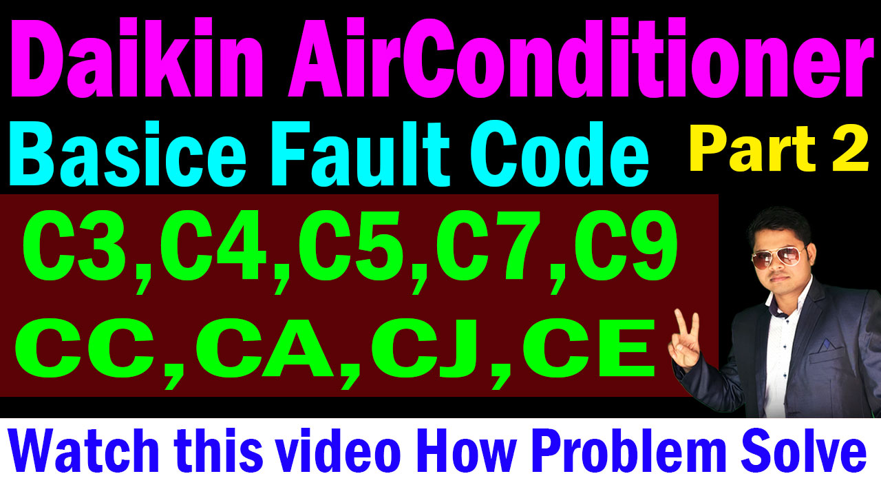 asr service center and asr help center: Daikin AC error C3