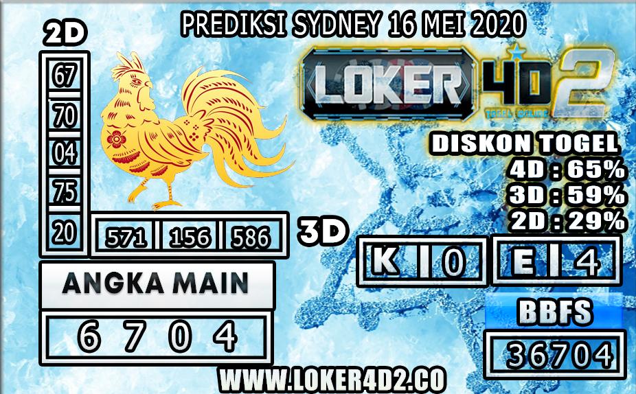 PREDIKSI TOGEL SYDNEY LOKER4D2 16 MEI 2020