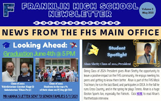 Franklin High School newsletter - Vol 3 - May 2021