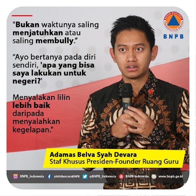 [Soal Corona] Sebut Menyalakan Lilin Lebih Baik Daripada Menyalahkan Kegelapan, Stafsus Milenial Jokowi DITABOKIN Warganet