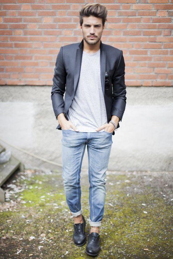 615453f1a8 Macho Moda - Blog de Moda Masculina  BLAZER com CALÇA JEANS
