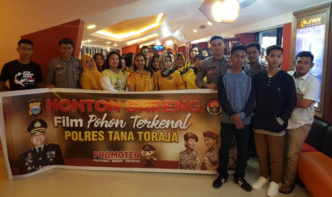 Nobar Film Terkenal, Kapolres Tana Toraja: Siapapun Bisa Jadi Polisi
