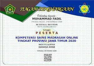 Yuk ! Cetak Piagam Keikutsertaan KSMO Jawa Timur 2020