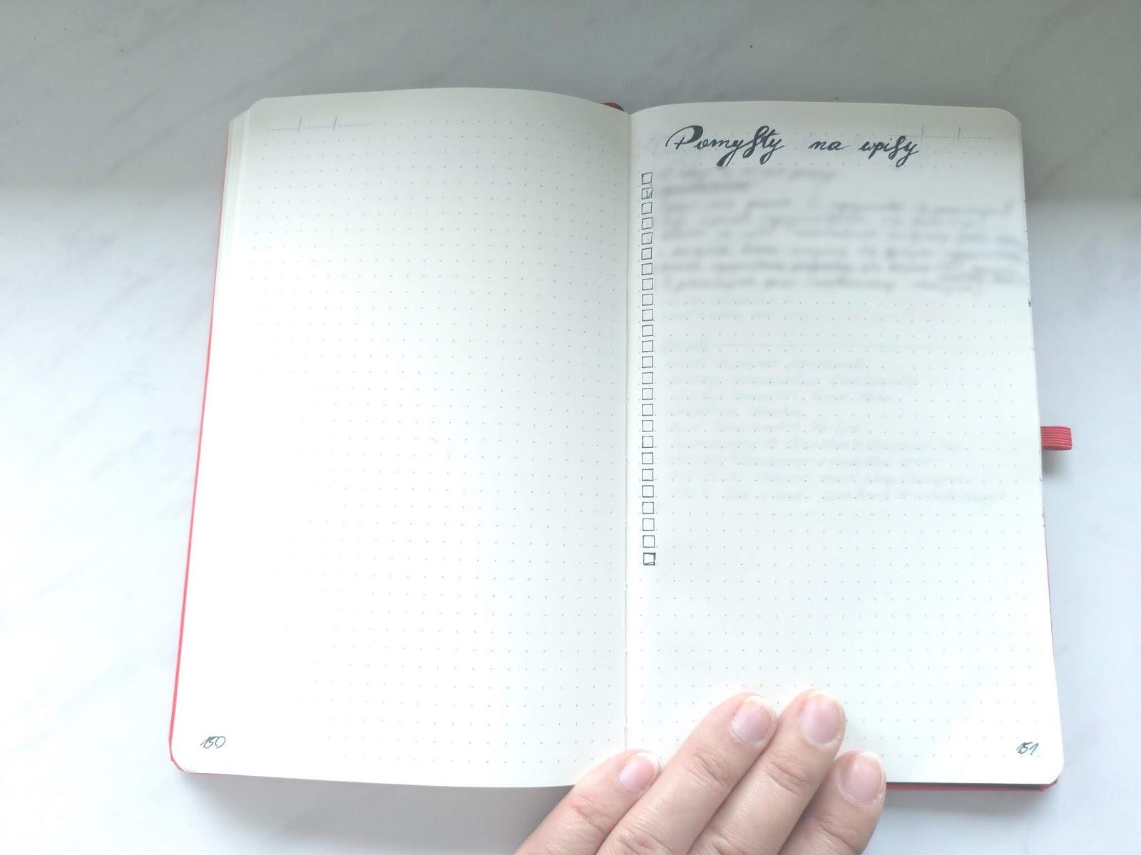 Bullet Journal dla blogera - pomysły na wpisy