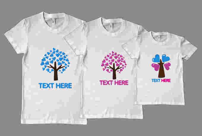Pesan   Bikin Kaos Couple Keluarga (Family), Desain Gambar ...
