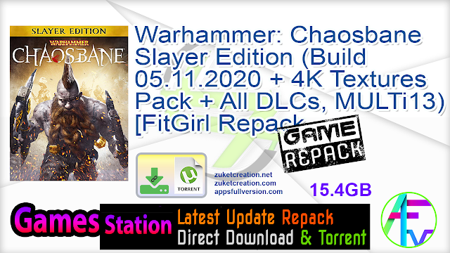 Warhammer Chaosbane – Slayer Edition (Build 05.11.2020 + 4K Textures Pack + All DLCs, MULTi13) [FitGirl Repack