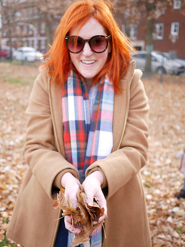 The best fall plaid scarf