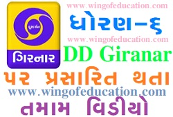 Std-6 DD Girnar Home Learning All Subjects Video December-2020 www.wingofeducation.com