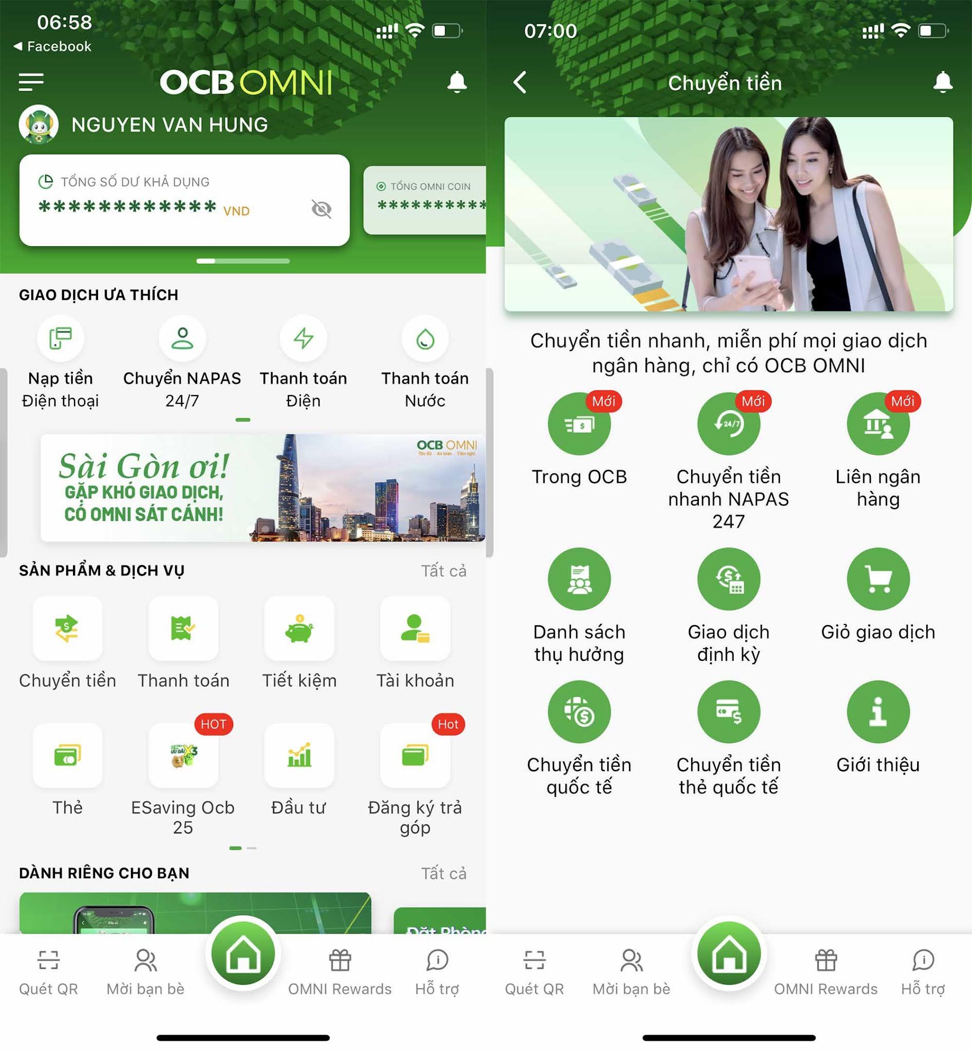 Nhận xét về ngân hàng Phương Đông OCB OMNI