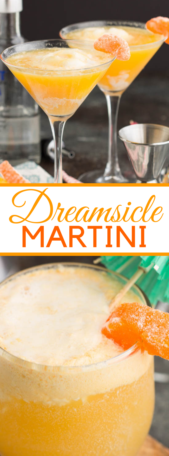Dreamsicle Martini Recipe #drinks #summerdrink