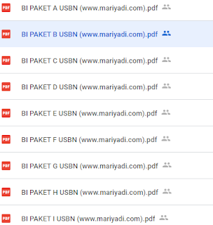 Download Kumpulan Soal USBN Bahasa Indonesia SD/MI Kurikulum 2013 Lengkap Kunci Jawaban