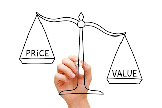 Price vs. value scale concept