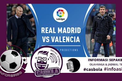 Prediksi Laga Real Madrid vs Valencia 19 Juni 2020