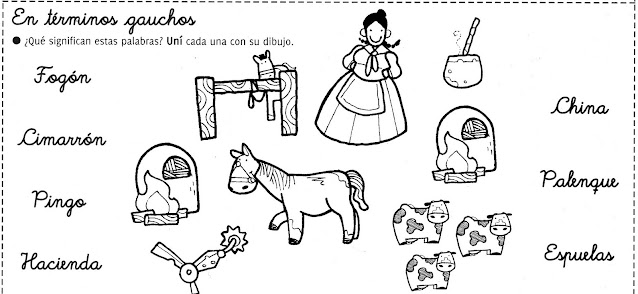 Actividades para niños día de la tradiciñon argentina