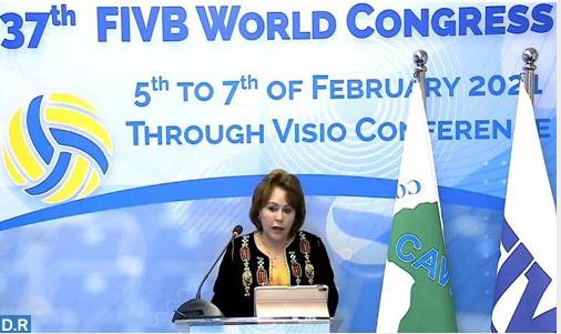 المؤتمر 37 للاتحاد الدولي للكرة الطائرة .. تطوير اللعبة في افريقيا رهين باعتماد تدبير شفاف و مبتكر (السيدة حجيج )
