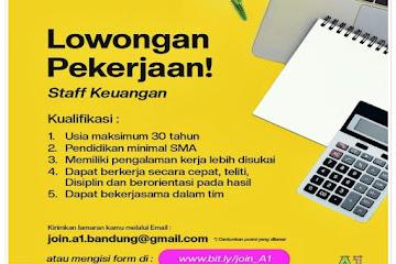 Loker Bandung Staff Keuangan A1 Bandung