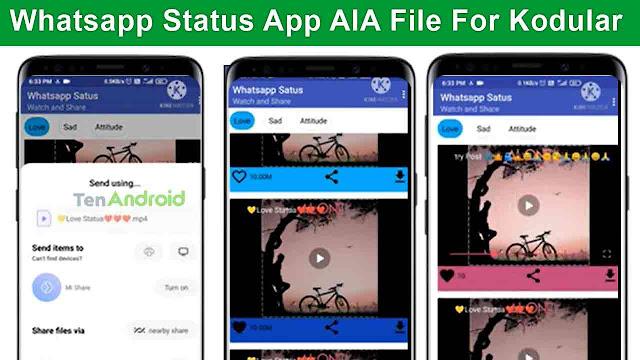 Whatsapp Status App AIA File Free | Kodular, Niotron