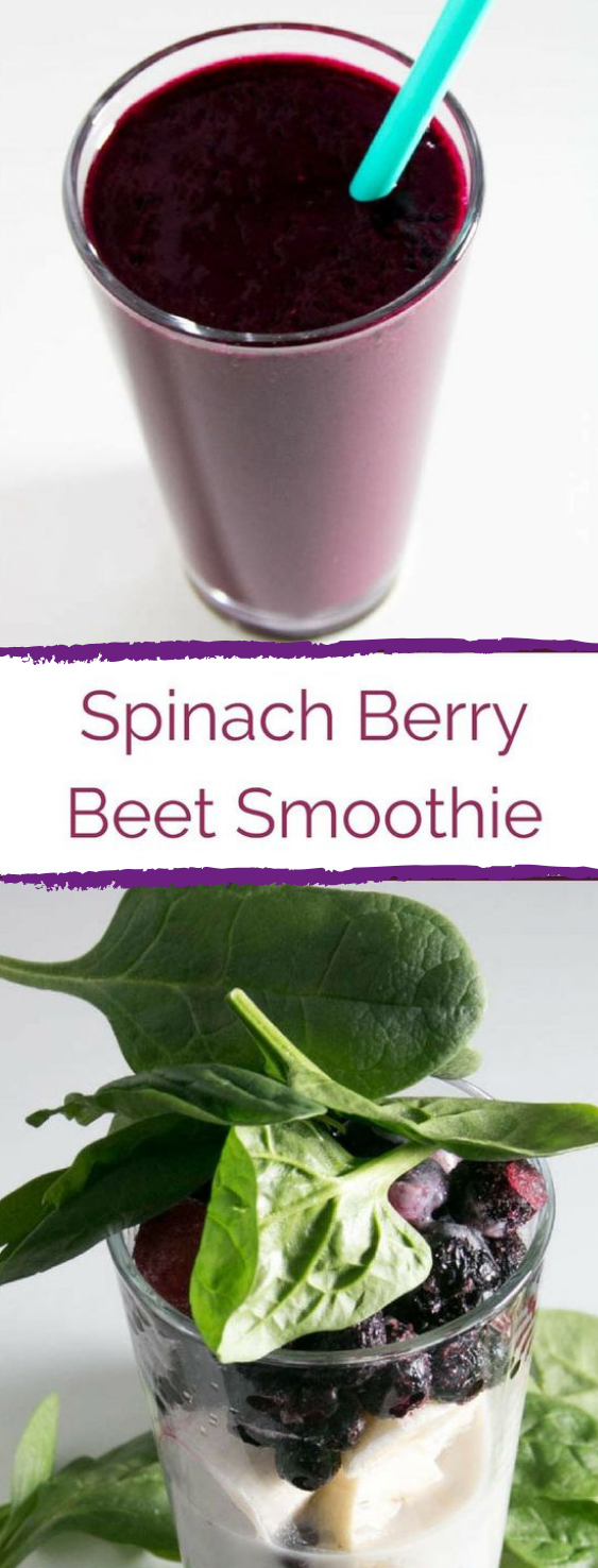 Spinach Berry Beet Smoothie #drink #smoothie