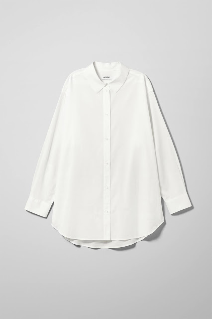 It's the turn of the classic white shirt....