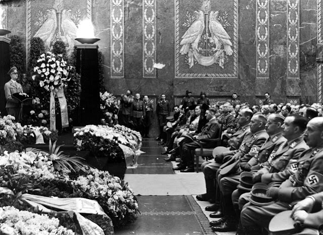 Adolf Hitler at the Carl Rover funeral, 22 May 1942 worldwartwo.filminspector.com