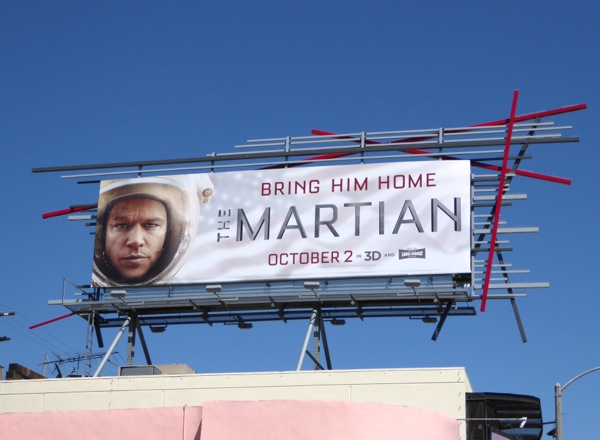 The Martian movie billboard
